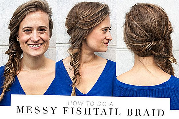DIY Braid vaje: Messy Fishtail