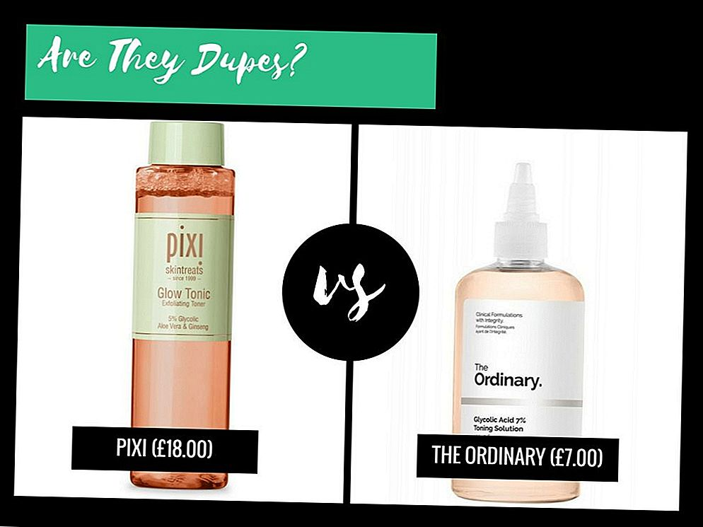 They're Dupes ?: Pixi Glow VS The Normal Glycolic Acid 7% Toning Solution
