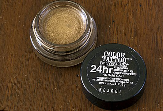 Product Review: Maybelline Krāsu Tattoo 24HR Cream Eyeshadow Bold Gold