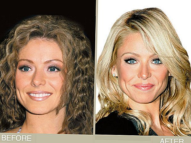 Kelly Ripa's Brown do Blonde Hair Makeover
