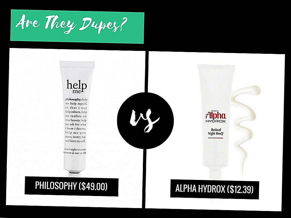 Are They Dupes ?: Philosophy Help Me Retinol Night Treatment VS Alpha Hydrox Retinol ResQ